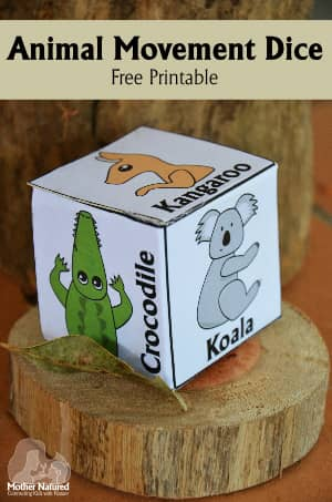 Animal Movement Dice - Free Printable