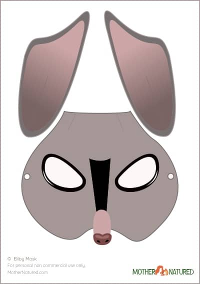 Bilby Mask for Kids