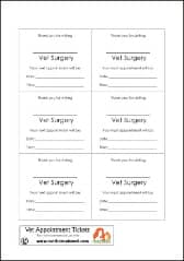 Vet Play Appointment Printable pb