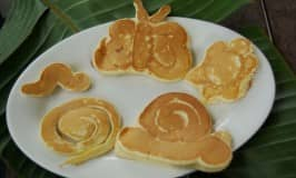 Easy made animal pancakes