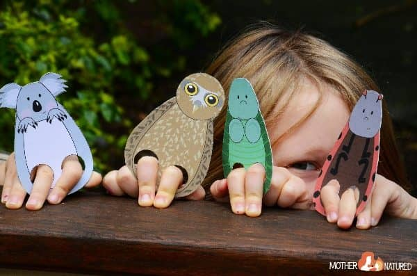 Printable Animal Finger Puppets for Kids