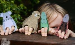 Animal finger puppet printable