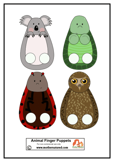 Animal Finger Puppets Printable
