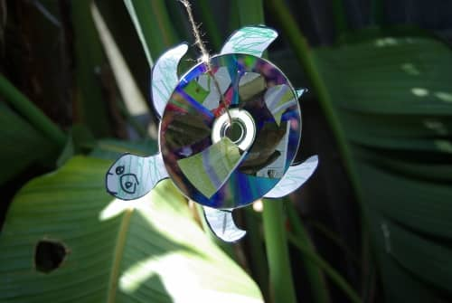 recycle CDs turtle