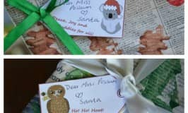Free printable: wildlife christmas gift tags