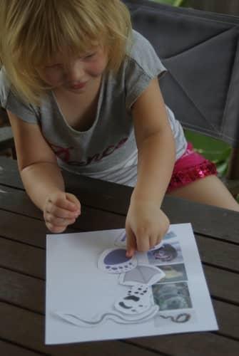 matching foot prints