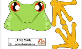 Free frog mask for save the frog day!