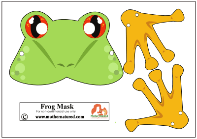 Free Printable Frog Mask for Kids