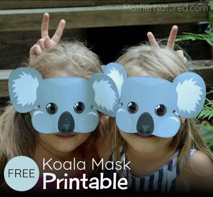 Free koala mask