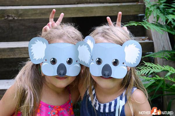 Free Printable Koala Mask for Kids