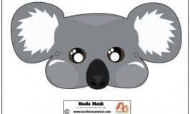 Free printable koala mask