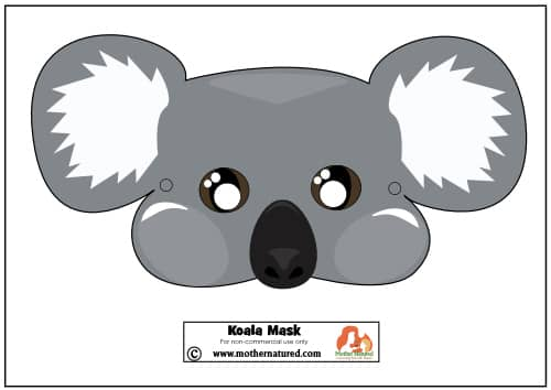 Free Koala Mask Printable Mother Natured
