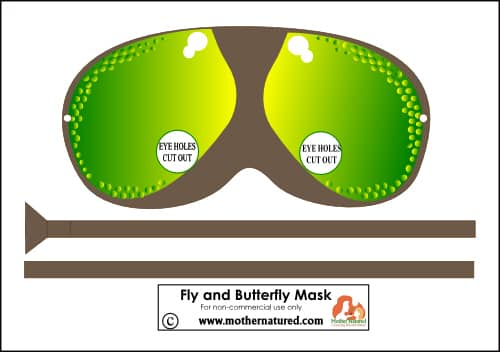 Butterfly and fly mask