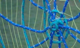 How to make a spider web obstacle course