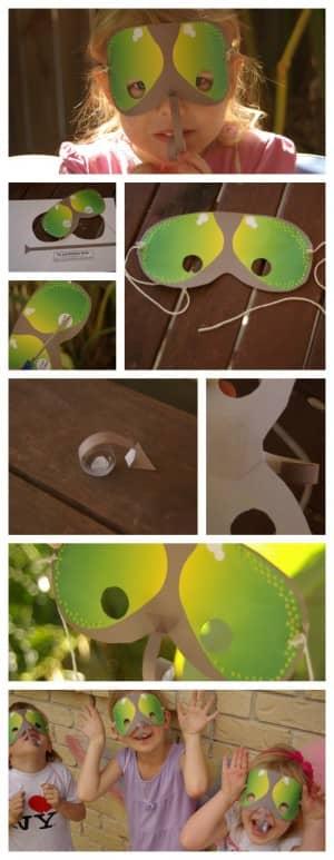 fly butterfly mask