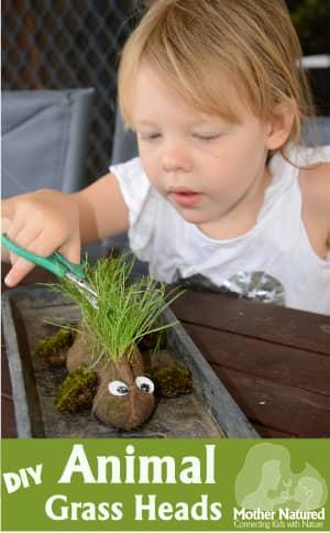 DIY Animal Grass Heads