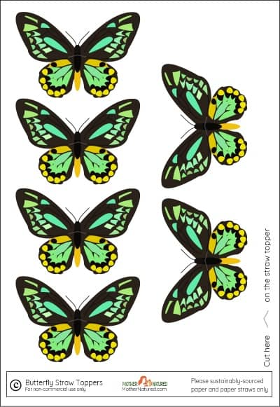 Butterfly Straw toppers