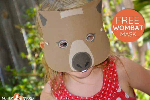 Learn about Wombats, Plus a free Wombat Mask!