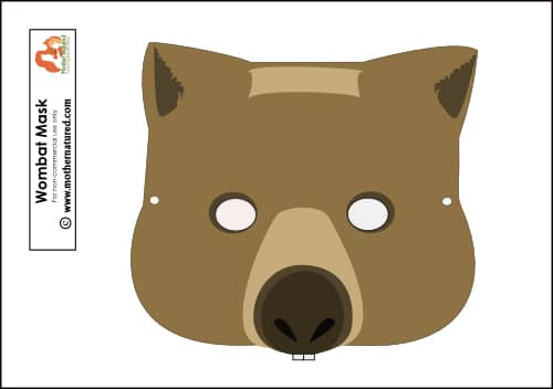 Wombat Mask Printable