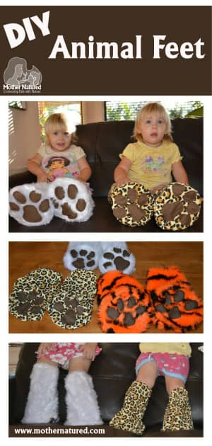 DIY Animal feet for kids