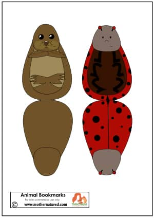 Lady beetle an Seal Bookmark