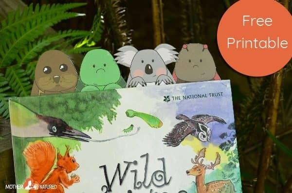 Printable Animal Bookmarks for Kids