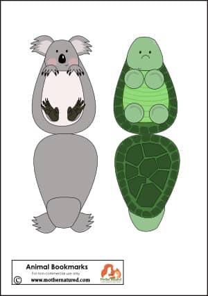 Koala and Turtle Bookmark