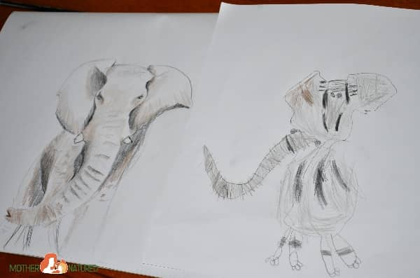 Drawing Elephants with kids