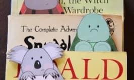 Free animal bookmarks for kids