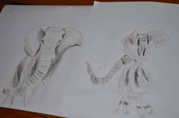 elephant art kids