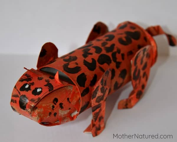 Toilet Roll animal - Cheetah