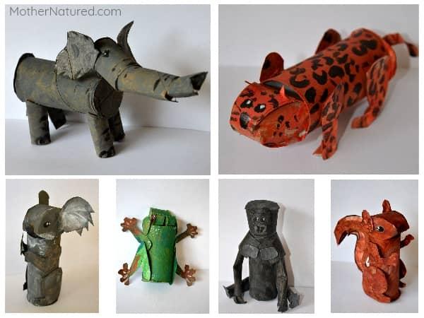 Cardboard Roll Animal Craft