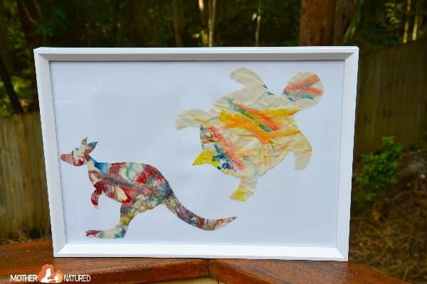 Turn Toddler Paintings into Wildlife Art