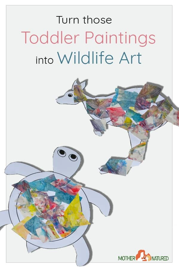 Toddler Paintings into wildlife Art