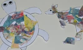 Turn toddler paintings into wildlife art