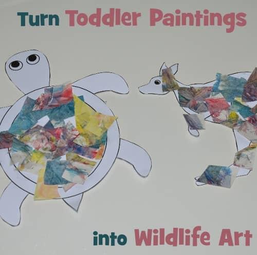 Toddler animal art