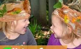 Easy paper bark nature crown for kids