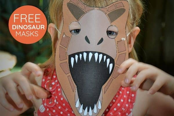 Printable dinosaur masks your kids will RAWR over!