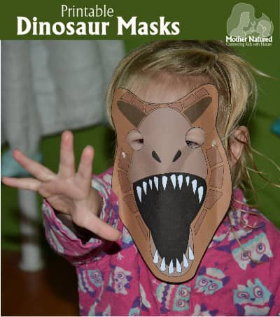 Printable Dino Masks