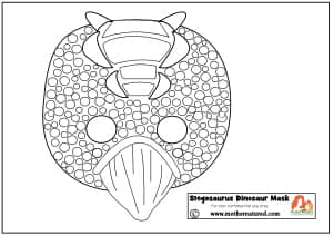 Stegosaurus mask Printable