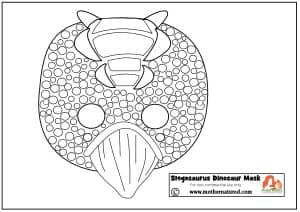 Stegosaurus Dinosaur Mask Stegosaurus Mask Printable
