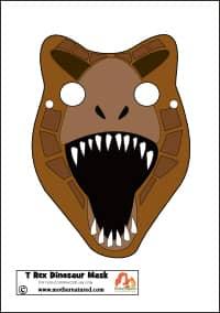 Triceratops Mask Dinosaur Printable