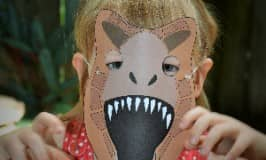 Printable dinosaur masks for prehistoric play!