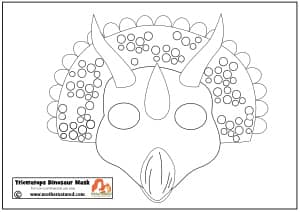 Captivating Triceratops Dinosaur Mask Printable ...