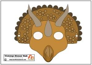 Triceratops Dinosaur Mask Printable Triceratops Dinosaur Mask