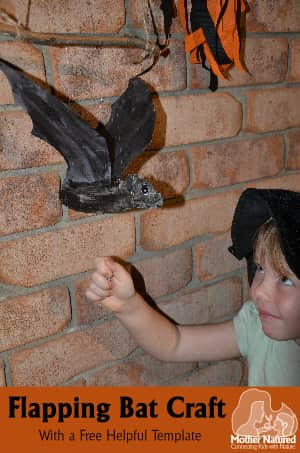 Halloween Flapping Bat Craft