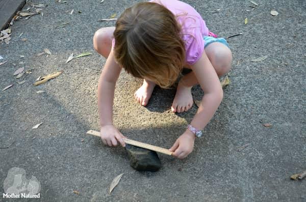 Measuring lenth of rock