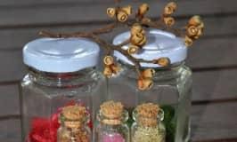 Nature's glitter: biodegradable glitter, fragrant and fun