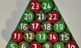 DIY Advent calendar from recycled materials