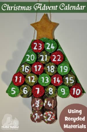 DIY Recycled Advent Calendar | Mother Natured